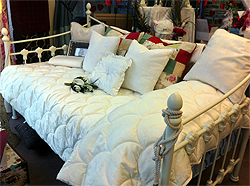 Quilted Bed Spread In Ivory