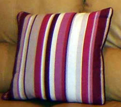 Contrast Piped Cushion