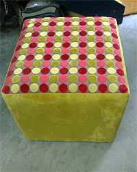 Lime Green Oblong Footstool
