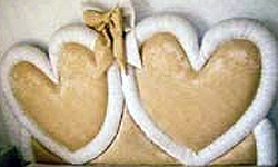 Double Heart Romantic Headboard
