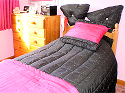 Pink and Black Quilt