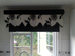 Pelmet Black And white Roman Blind