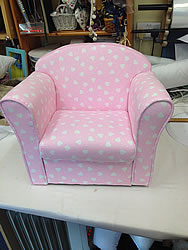 Small Pink Chair in High Cotton