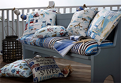 A Selection of Maritime Fabric Cushions