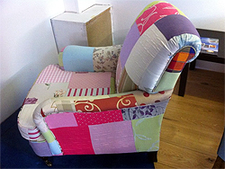 Armchair In A Bright Patchwork Design
