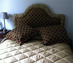 Headboard With Matching Decorative Cushions