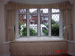 Bay Window Curtains With Matching Seat
