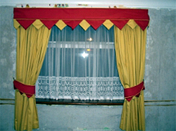 Pelmet And Curtain Matching Set