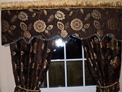 Beaded Pelmet And Curtains