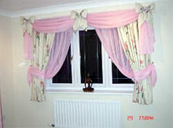 Delicate Curtain Overhanging Drapes