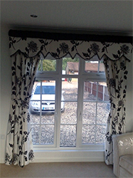 Contrasting White And Black Curtains