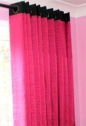 Crushed Silk Curtains